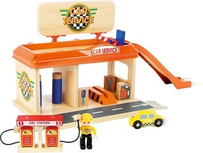 Billede af Bil servicestation / garage i træ