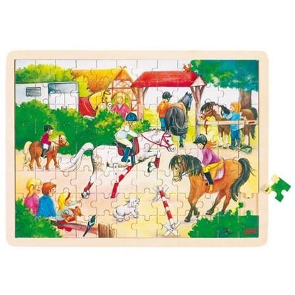 Billede af Puslespil Heste opvisning