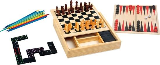 Billede af 4 spil i kasse